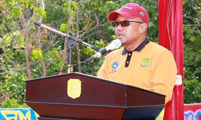 Lis saat memberikan kata sambutannya pada acara Jambore PKK Tanjungpinang